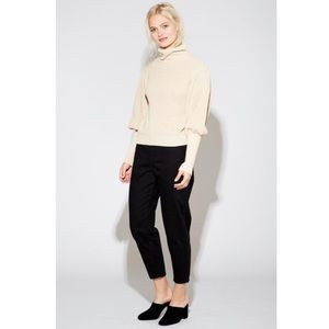 Callahan Mock Neck Pullover Puff Sleeve Sweater